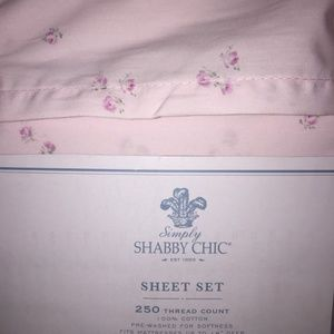 Simply Shabby Chic Rachel Ashwell size Sheet Set Cotton Candy floral pink blue